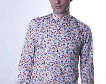 Geometric pattern shirt - 3D - BAÏSAP 0Q42qyuz
