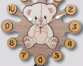 Pendulum Wall Clock Teddy