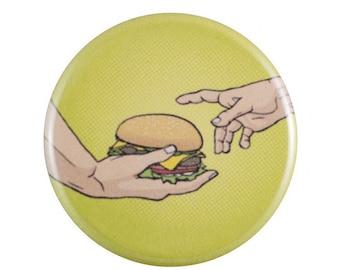 "Divine Burger 1.25"" Button Pin"