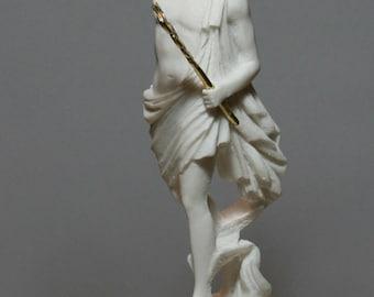 Flying Greek Mercury HERMES Messenger God Alabaster Statue Sculpture 10.24in - 26cm **Free Shipping & Free Tracking Number**