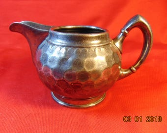 One (1), Silver Gilt, Creamer from Reed & Barton, in the No. 612 Pattern.