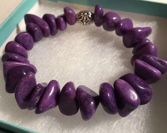 Polished Purple Rocks Bracelet