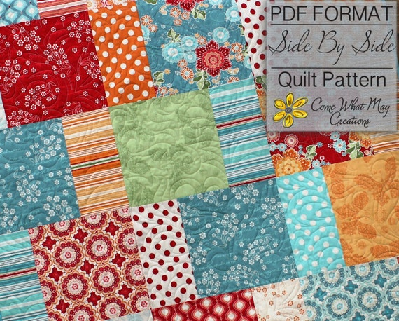 pdf quilt pattern layer cake quilt pattern side by side. Black Bedroom Furniture Sets. Home Design Ideas