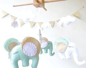 Elephant Baby  Mobile /  Nursery mobile / Elephant Baby Mobile /Mobile for baby / Baby Mobile Hanging/ Baby Mobile Elephant