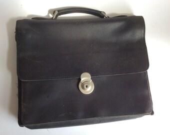 plevier school black vintage school bag