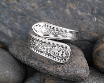 Silverware Handle Ring (Spoon Ring) Size 8 3/4 SR133
