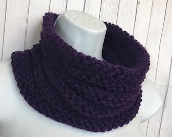 Cowl, Scarf, Hand Knit Scarf ,Infinity scarf, Knit cowl, scarflette, neckwarmer, Womens scarf, Ready to Ship