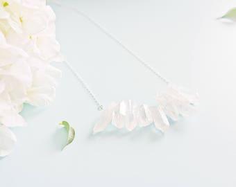 "Necklace ""Titanium"" sterling silver and titanium"