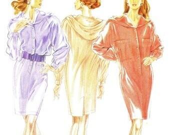 New Look 6606 Mouth Watering Hoodie Dress / 1990's SZ6-16 UNCUT