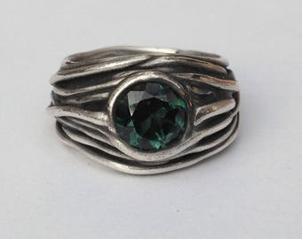 Ring Silver Lines Tourmaline R184