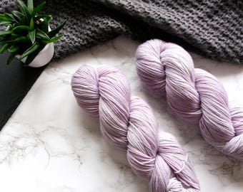 Sock yarn, hand dyed yarn, wool yarn, 60th birthday gift, hand dyed sock yarn, merino wool yarn, cat lover gift, PREORDER - Lilac