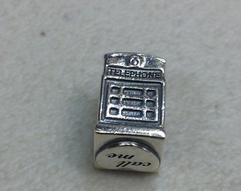 Authentic Pandora Silver London Calling Charm #791202EN49
