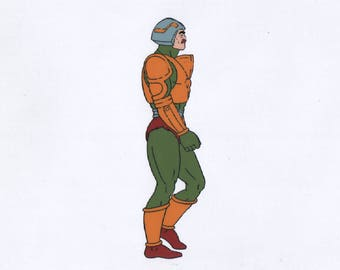 He-Man Man-At-Arms Masters of the universe Production Cel 1980s FIlmation
