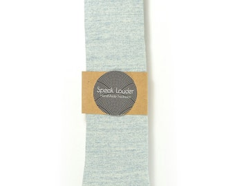 Wedding Mens Tie Skinny Necktie blush blue- Laid-Back necktie- Blue Japanese fabric