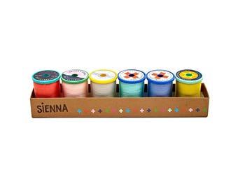 Cotton + Steel 50 weight Cotton Thread Set by Sulky - Sienna