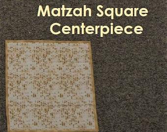 """Matzah Square Centerpiece - 18"""" X 18"""""""