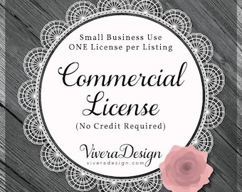 Commercial (No-Credit Required) License - vector graphics, digital clip art, digital images, commercial license