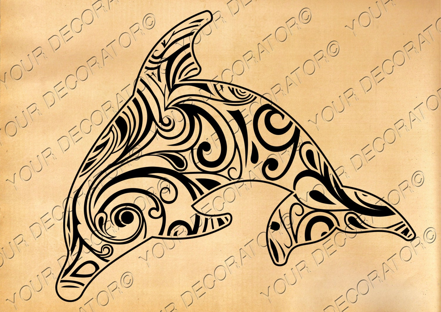 Dolphin svg Zentangle design scroll saw vinyl cutting