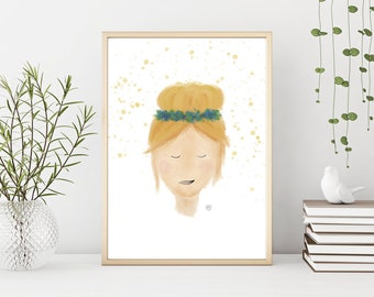 Dreaming of Spring Digital Art Print   Digital Print   Art Print   Illustration   Home Decor   Wall Art   Wall Decor   iPad Art   Gift