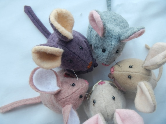 Mouse Sewing Pattern Pdf 4 Inch Tall Wool Felt Toy