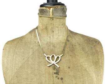 Rhinestone Bow Necklace, Rhinestone Ribbon Necklace, Gold Bow Necklace, Gold Ribbon Necklace, Rhinestone Necklace