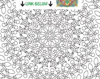 Christmas Mandala Coloring Page Christmas Morning