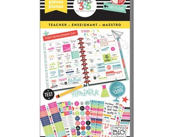 Big Teacher Planner Sticker 1733/Pkg Create 365 Happy Planner Sticker Value Pack (PPSV-14)