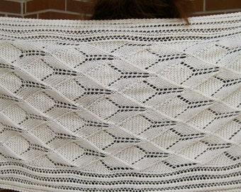 Knit Shawl Pattern:  The Katrina Lace Shawl Knitting Pattern