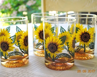 4 - Culver Double Old Fashion Sunflower with Iridescent  bottomed