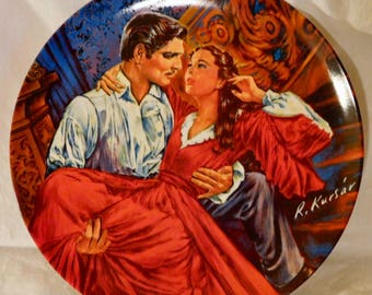 Scarlett and Rhett The Finale Collector Plate Gone With The Wind Collectible Movie Collectible Scarlett O'Hara Rhett Butler