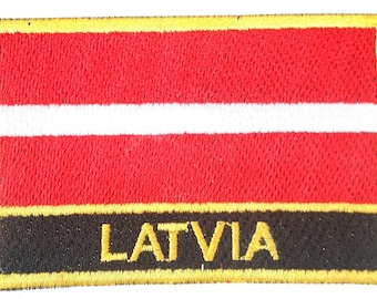 Latvia  Embroidered Sew or Iron on Patch Badge