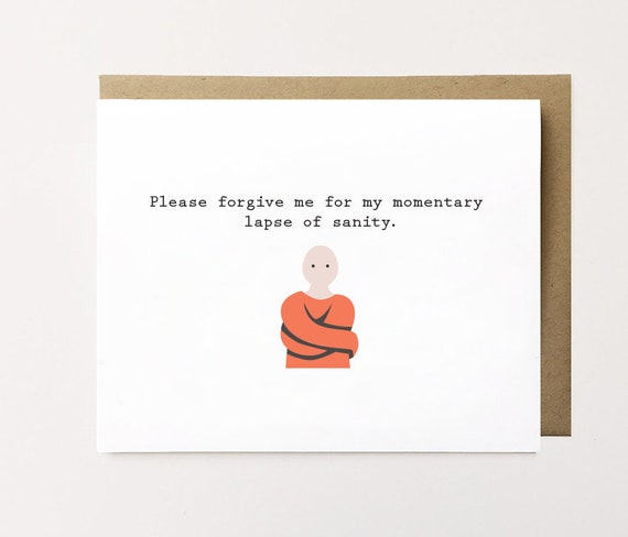funny apology card i'm sorry card apology card funny