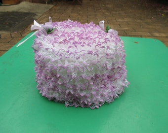 Toilet Roll Cover - Hand Knitted - Vintage