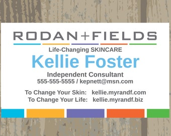Rodan + Fields Business Cards Printed or Digital Upload One Sided Business Card