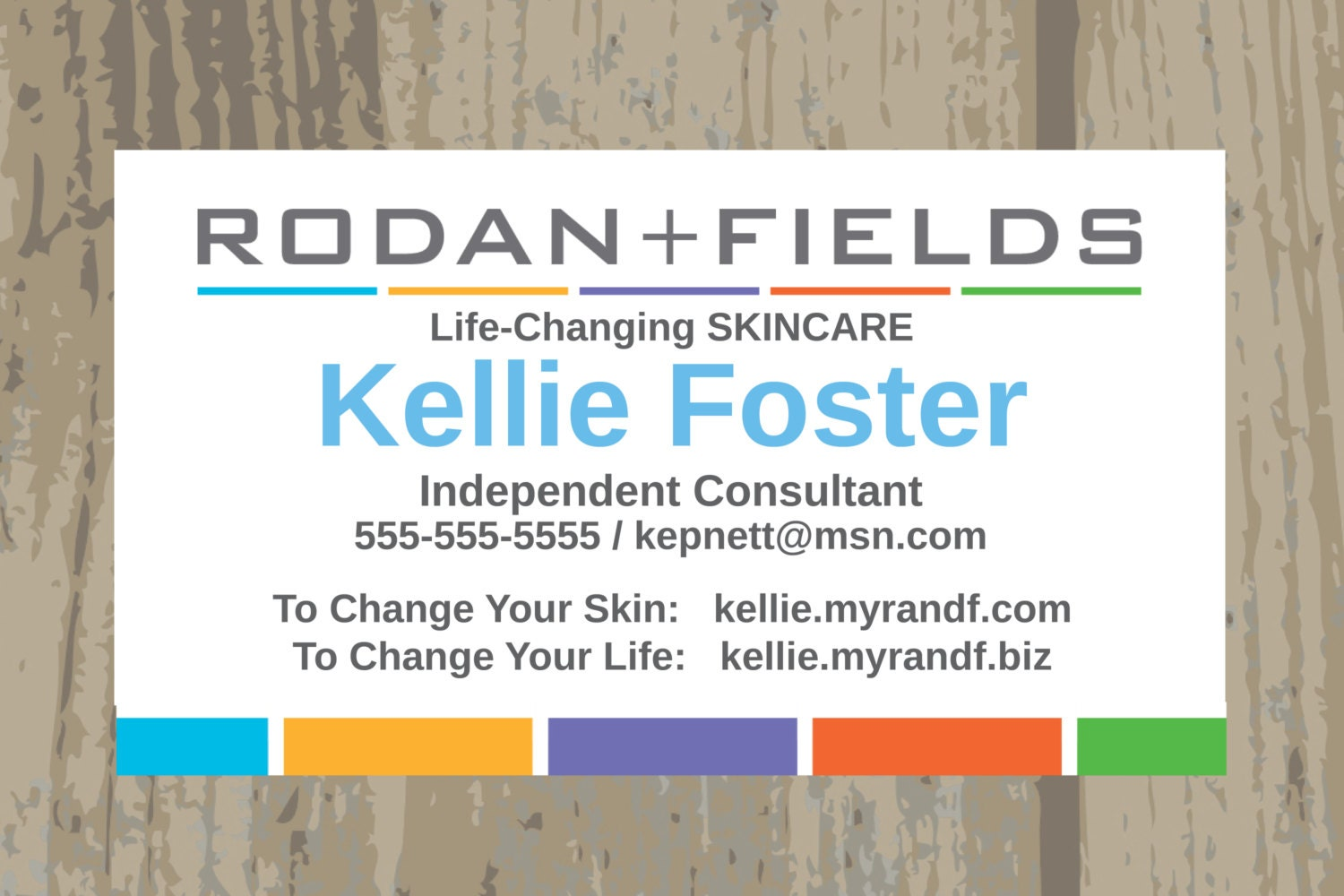 Rodan Fields Business Cards Printed or Digital Upload One
