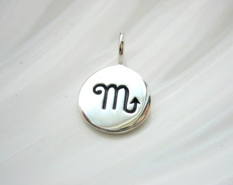 Sterling Silver Scorpio Zodiac Charm - Add On - Astrological Sign