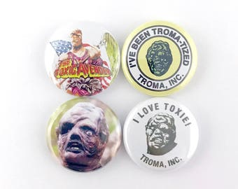 "The Toxic Avenger - 1"" Button Pin Set"