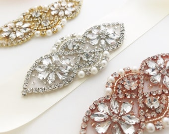 wedding belt, wedding sash, wedding dress sash, crystal pearl sash, rhinestone sash belt, rose gold, silver, gold, bridal belts and sashes,