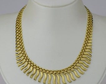 14k Yellow Gold Estate Cleopatra Necklace 17 1/2'' Long