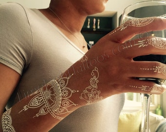 1 blatt wei henna tattoos henna tattoos wei er spitze. Black Bedroom Furniture Sets. Home Design Ideas