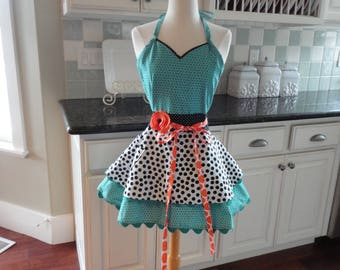 Company's Coming  ~ LAST ONE -  Fun Mother's Day  ~Sadie Style Women's Apron ~ 4RetroSisters