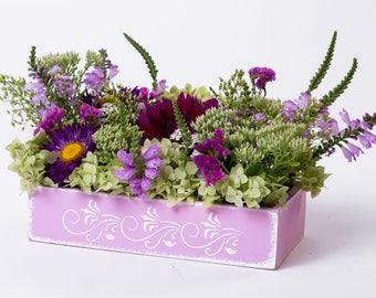 Home gift idea Wedding decorations Flower box Wedding centerpiece Table centerpiece Planters Flower embellishment Wedding box Wood box