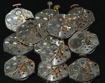 Vintage Watch Movements Parts Steampunk Altered Art Assemblage RB 51