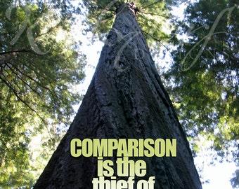 La comparaison est le voleur de joie impression