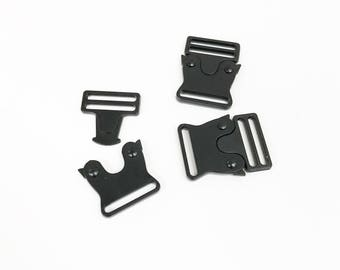 1 inch Black Quick Release Stainless Steel Buckle