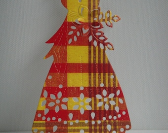 Cutout dress madras for scrapbooking and card making