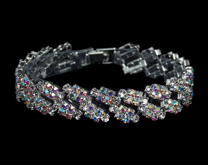 Maya AB Crystal Competition Bracelet for IFBB and NPC Bikini Fitness Bodybuilding Contests