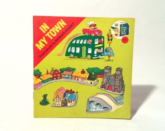 Vintage 1970s 'In My Town' Richard Scarry Paperback Golden Book