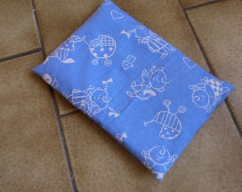 Organic wheat with washable cover heating pad