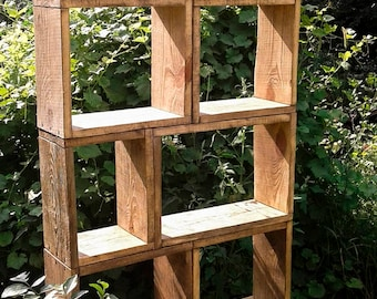 "Large bookcase,wooden bookcase,modern bookcase,pine bookcase,narrow bookcase,solid wood bookcase,tall bookcase,wall bookcase,bookcase""Tower"""